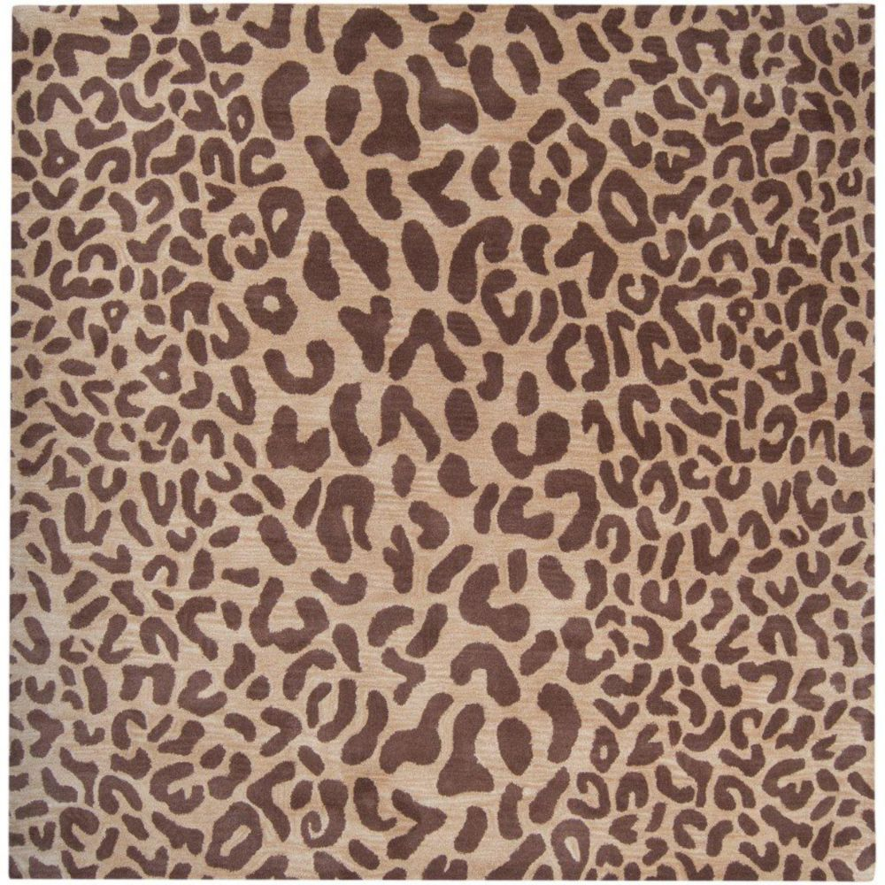Alhambra Tan Wool Area Rug - 6 Feet Square Alhambra-6SQ Canada Discount