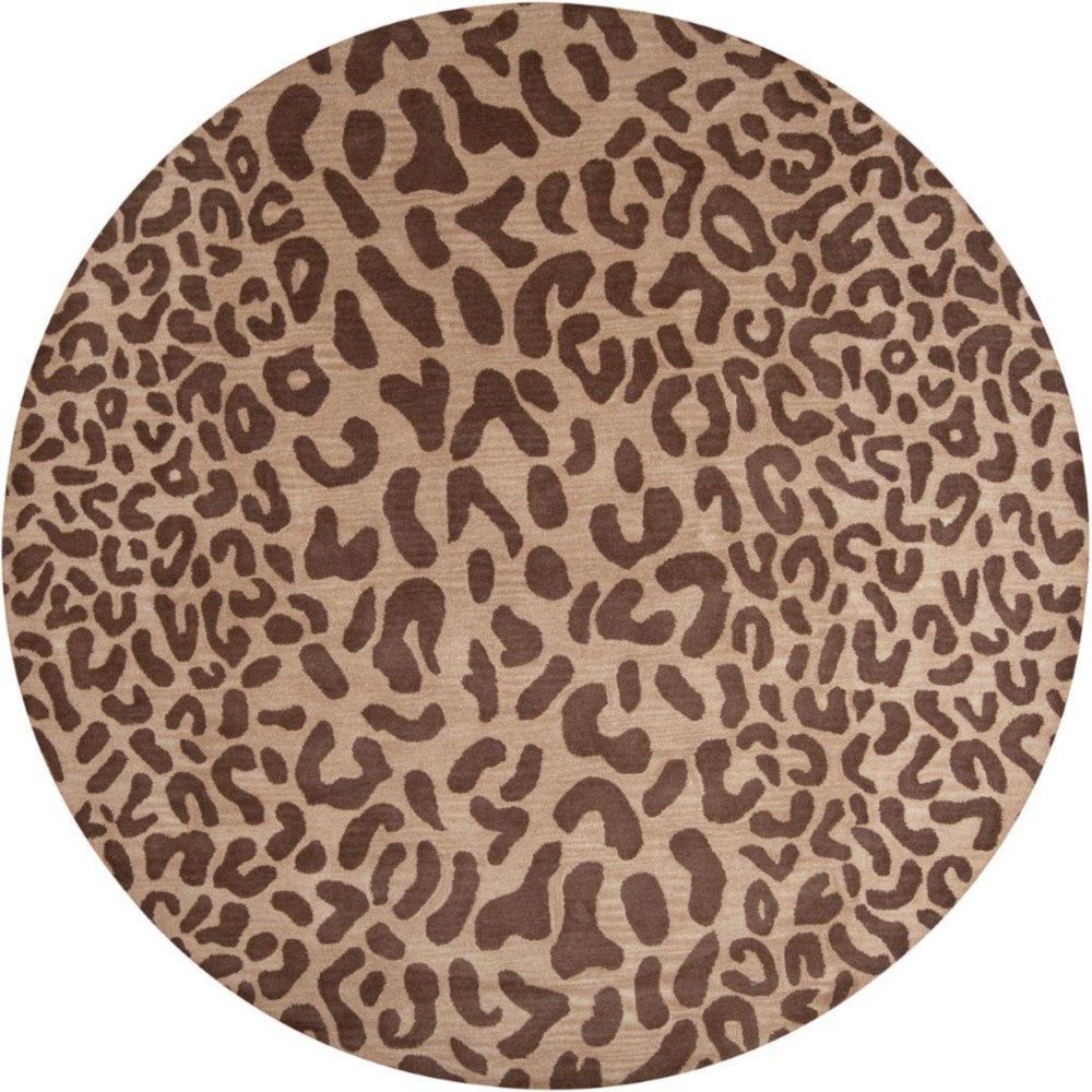 Alhambra Tan Wool Area Rug - 9 Feet 9 Inches Round