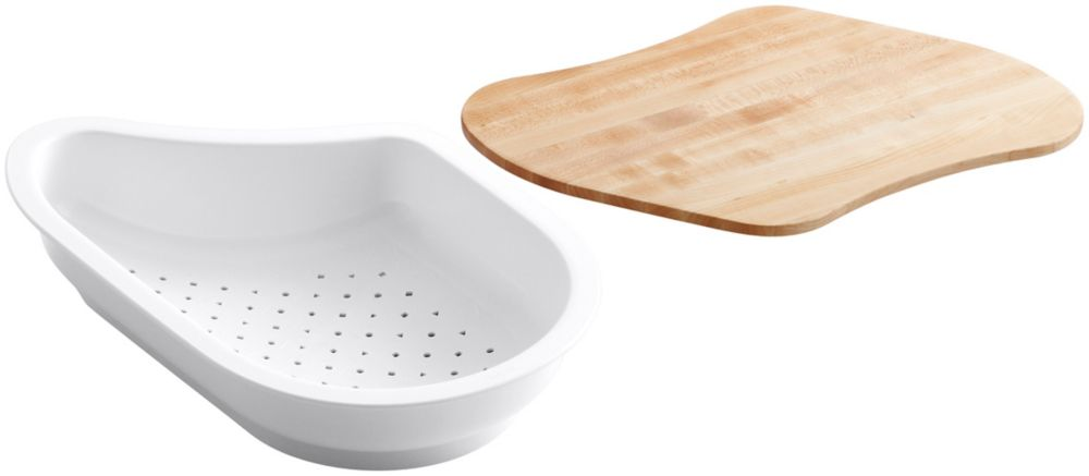 KOHLER Colander/Cutting Board Fits 9-1/4 Inch X 15-3/8 Inch Basin