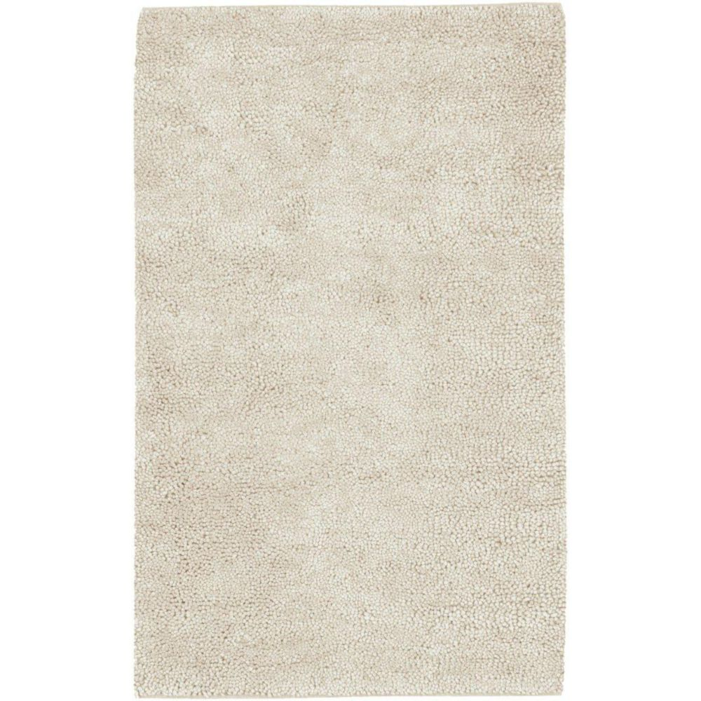 Adelanto Ivory New Zealand Felted Wool 8 Ft. x 10 Ft. 6 In. Area Rug