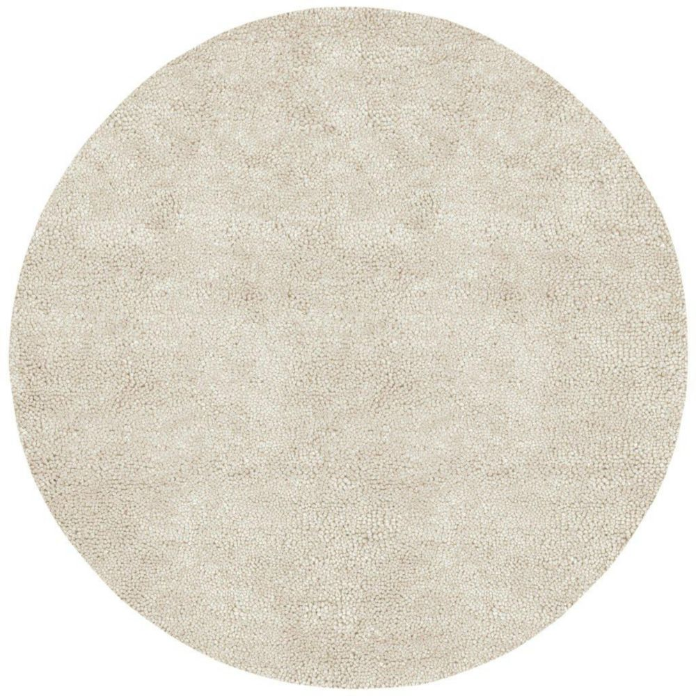 Adelanto Ivory New Zealand Felted Wool 8 Ft. Round Area Rug