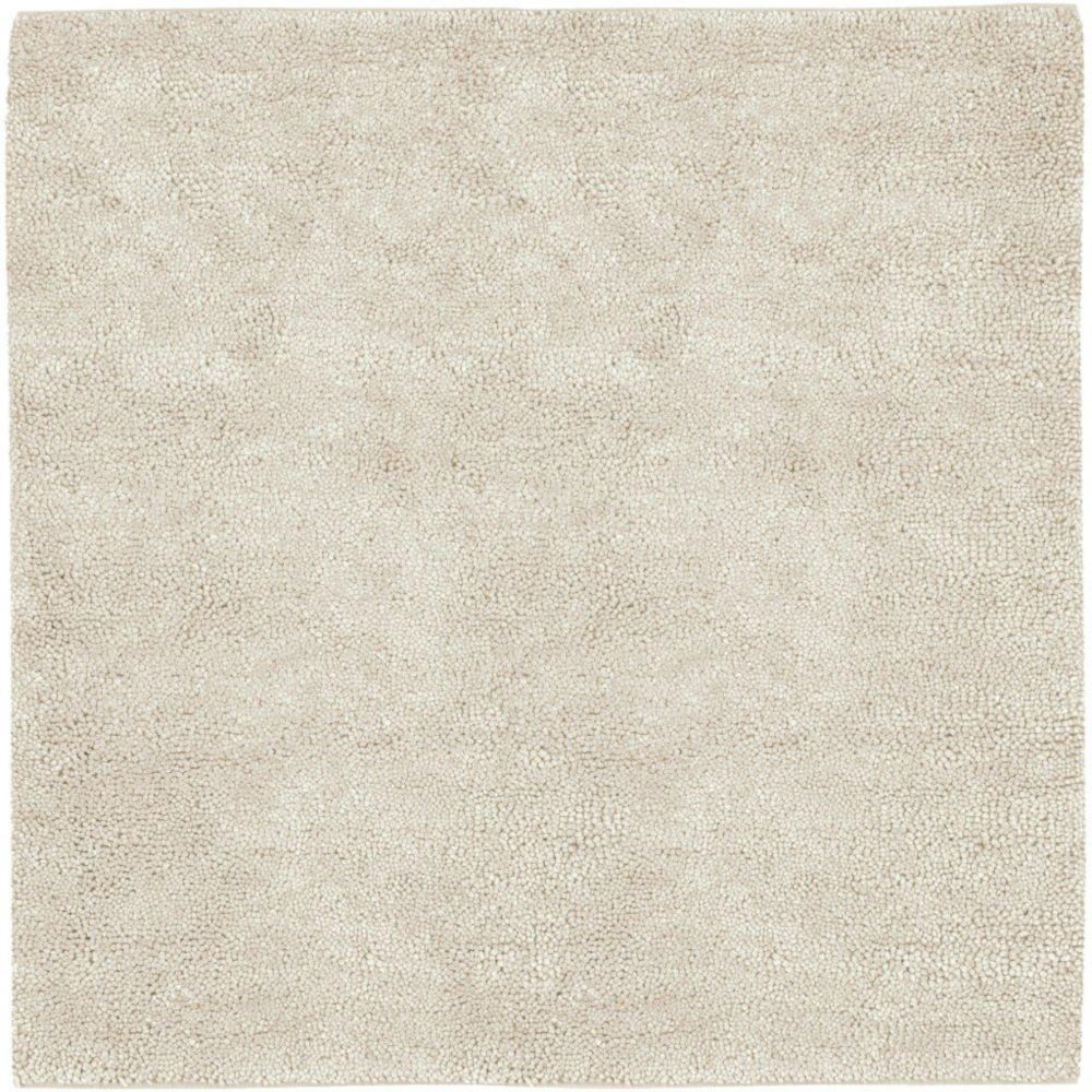 Adelanto Ivory New Zealand Felted Wool 8 Ft. Square Area Rug