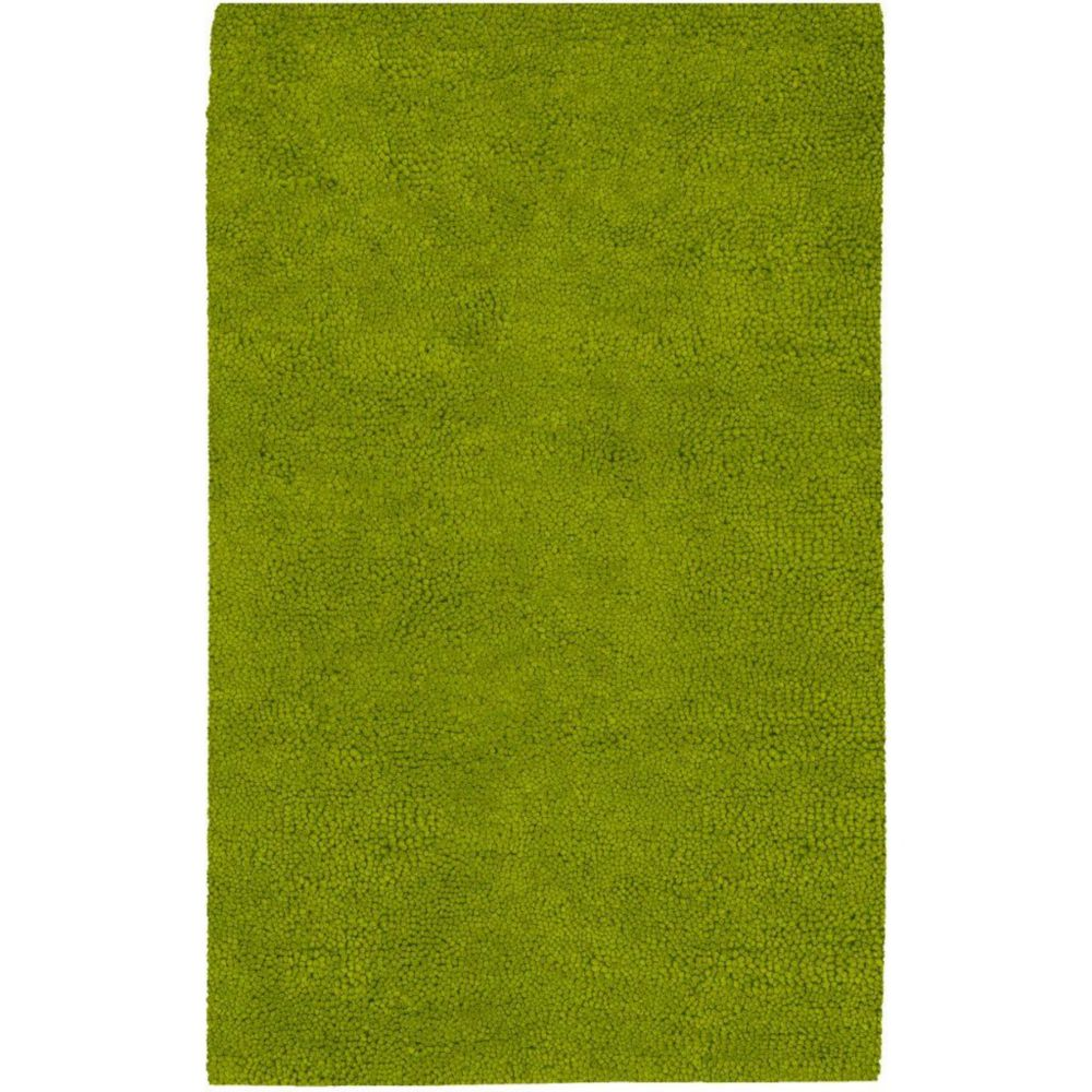 Agoura Lime Green New Zealand Felted Wool 5 Ft. x 8 Ft. Area Rug