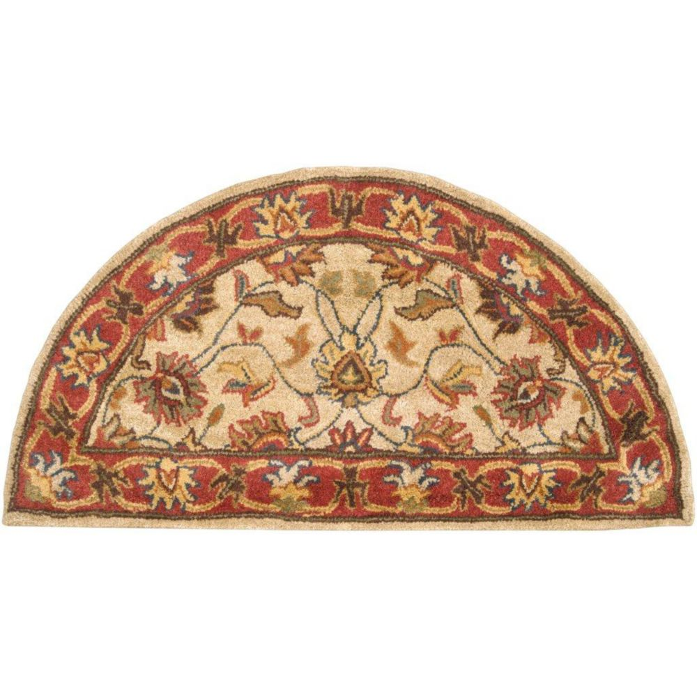 Artistic Weavers Belmont Beige Tan 2 ft. x 4 ft. Indoor Traditional Semi-Circular Accent Rug
