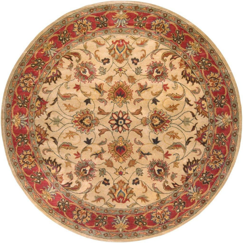 Belmont Beige Wool Round  - 9 Ft. 9 In. Area Rug