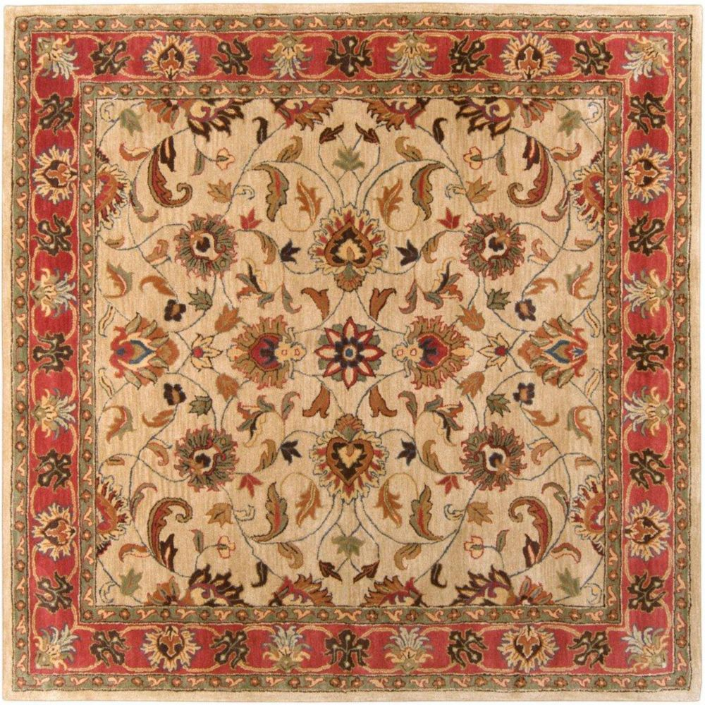 Belmont Beige Wool Square  - 9 Ft. 9 In. Area Rug