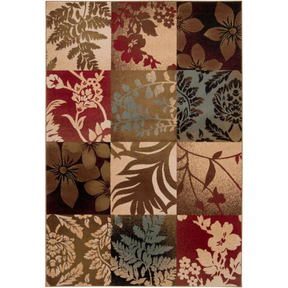 Abbotsford Tea Leaves Polypropylene Area Rug - 10 Feet x 13 Feet