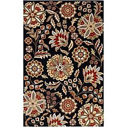 Artistic Weavers Carpette d'intérieur, 2 pi x 3 pi, style transitionnel, rectangulaire, noir Anderson