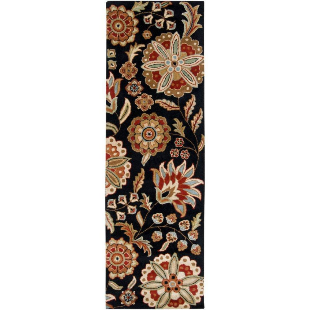 Artistic Weavers Anderson Black 3 ft. x 12 ft. Indoor Transitional Runner