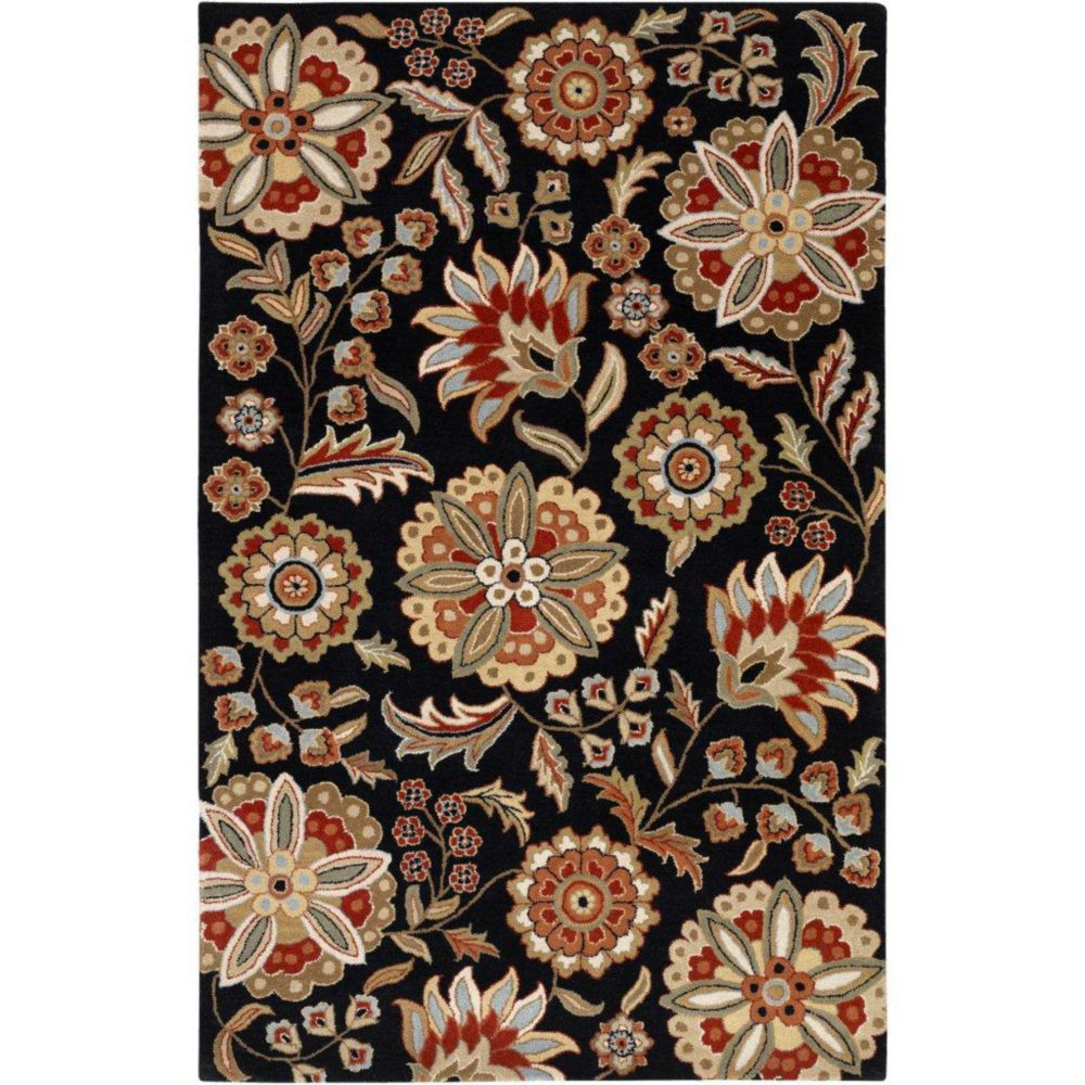 Anderson Black Wool 5 Ft. x 8 Ft. Area Rug