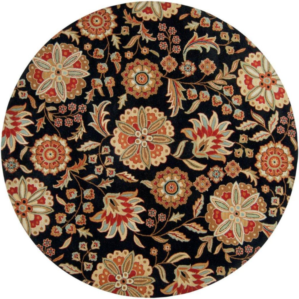 Anderson Black Wool 6 Ft. Round Area Rug