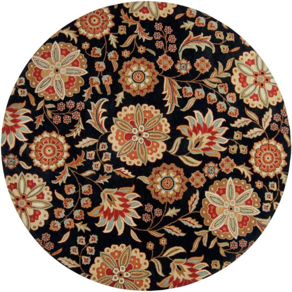 Artistic Weavers  Tapis Anderson noir en laine 8 Pi. rond