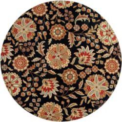 Artistic Weavers Carpette d'intérieur, 9 pi 9 po x 9 pi 9 po, style transitionnel, ronde, noir Anderson