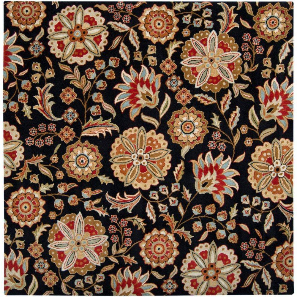 Artistic Weavers  Tapis Anderson noir en laine 9 Pi. x 9 Pi.
