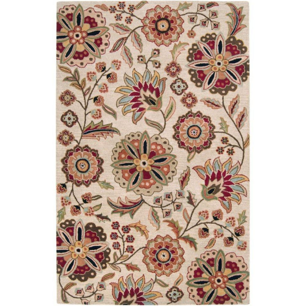 Antioch Ivory Wool Area Rug - 12 Feet x 15 Feet