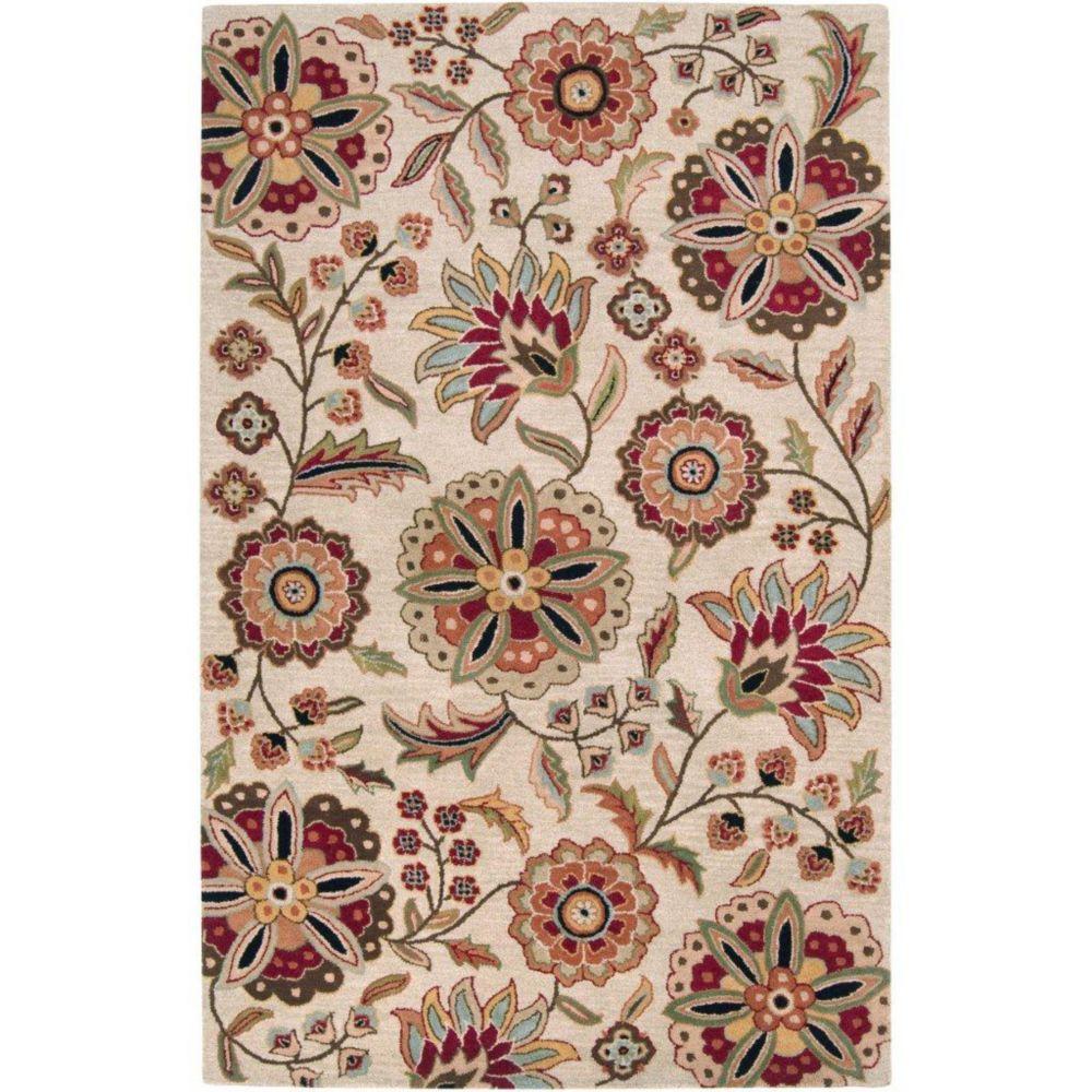 Antioch Ivory Wool 2 Feet x 3 Feet Accent Rug