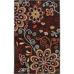 Artistic Weavers Carpette d'intérieur, 12 pi x 15 pi, style transitionnel, rectangulaire, brun Arcadia