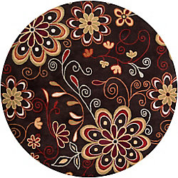 Artistic Weavers Arcadia Brown 6 ft. x 6 ft. Indoor Transitional Round Area Rug