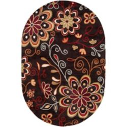 Artistic Weavers Arcadia Brown 8 ft. x 10 ft. Indoor Transitional Oval Area Rug