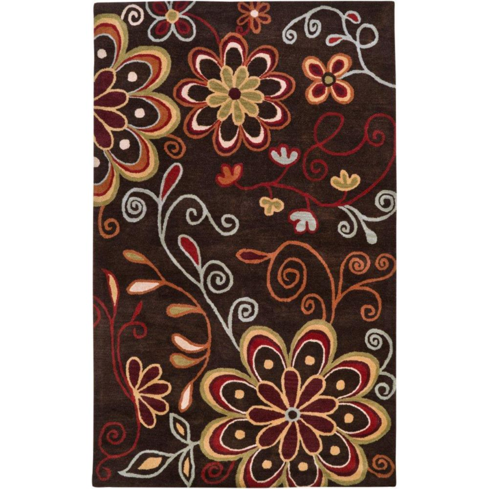 Arcadia Chocolate Wool 9 Ft. x 12 Ft. Area Rug
