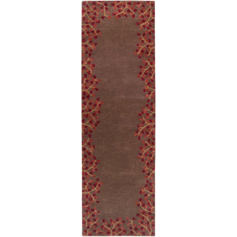 Alturas Chocolate Wool 3 Feet x 12 Feet Area Rug