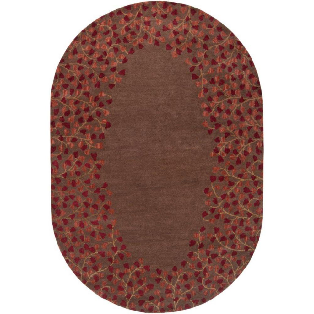 Alturas Chocolate Wool 6 Ft. x 9 Ft. Area Rug Oval