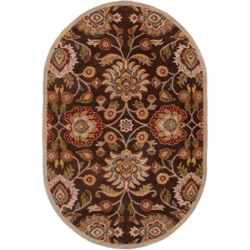 Dachstein Chocolate Wool Oval  - 8 Ft. x 10 Ft. Area Rug