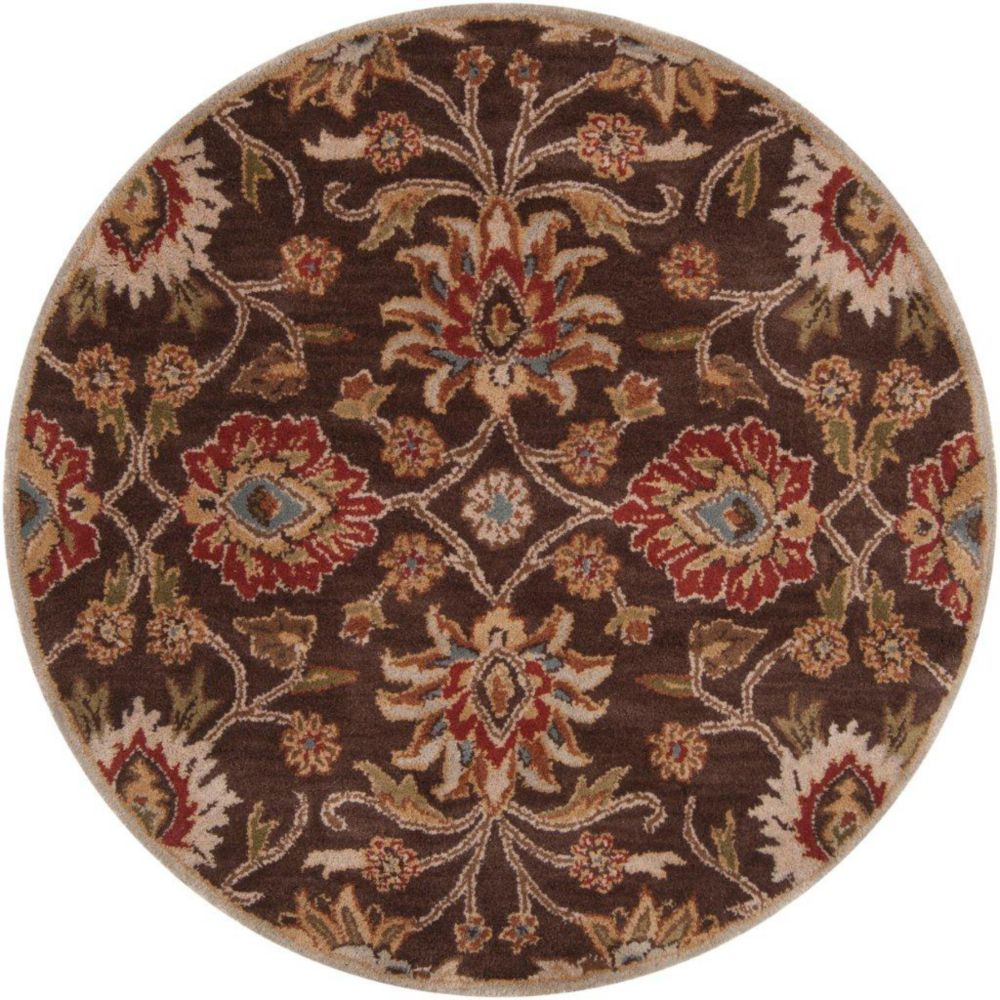 Dachstein Chocolate Wool Round - 8 Ft. Area Rug Dachstein-8RD in Canada