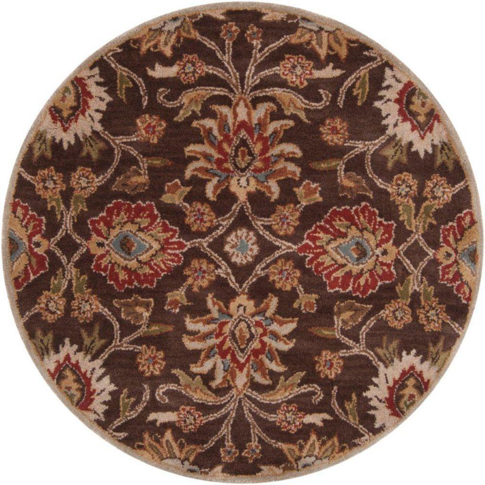 Dachstein Chocolate Wool Round  - 8 Ft. Area Rug