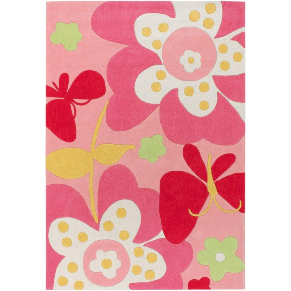 Eaubonne Pink Polyester 4 Ft. 10 In . x 7 Ft. Area Rug