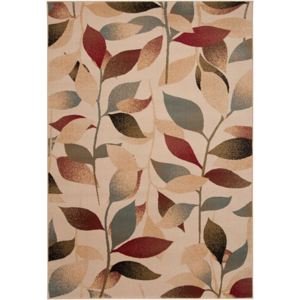 Edmonton Tea Leaves Polypropylene  - 5 Ft. 3 In. x 7 Ft. 6 In. Area Rug