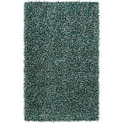 Artistic Weavers Carpette d'intérieur, 2 pi x 3 pi, à poils longs, rectangulaire, bleu Enderby