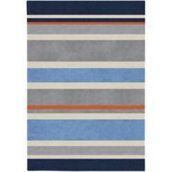 Artistic Weavers Carpette d'intérieur, 3 pi x 5 pi, style contemporain, rectangulaire, bleu Fabrezan