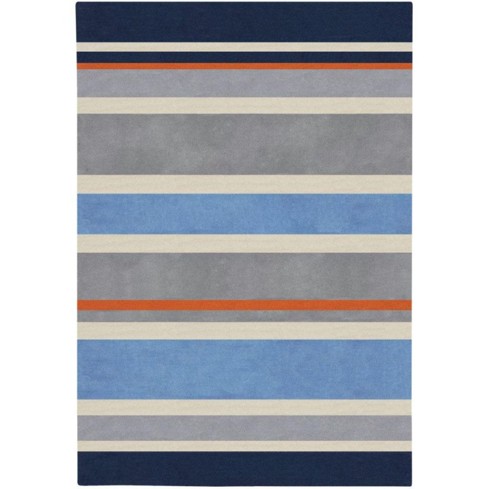 Artistic Weavers Fabrezan Blue 6 ft. x 9 ft. Indoor Contemporary Rectangular Area Rug