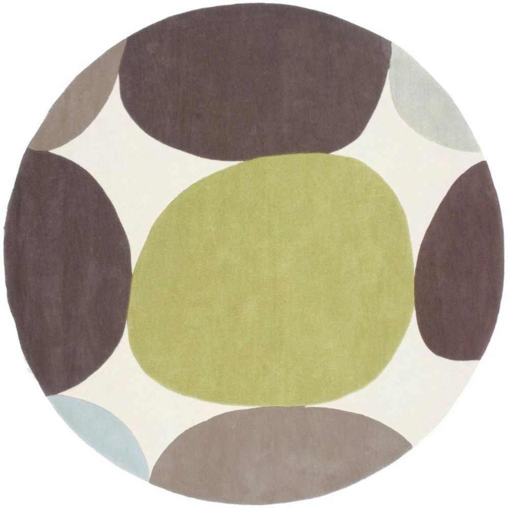 Tapis Falleron Ivoire polyester 8 Pi. rond