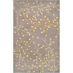 Artistic Weavers Carpette d'intérieur, 12 pi x 15 pi, style transitionnel, rectangulaire, gris Arroyo