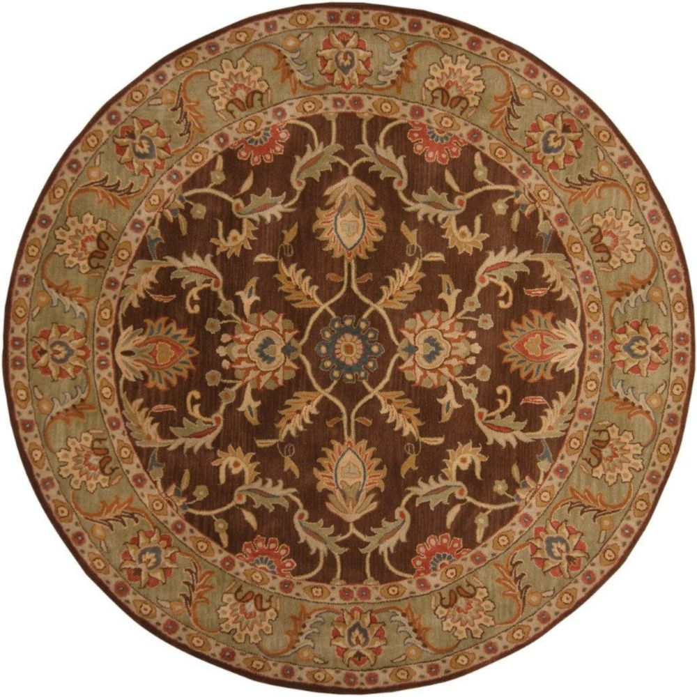 Brawley Chocolate Wool Round  - 9 Ft. 9 In. Area Rug