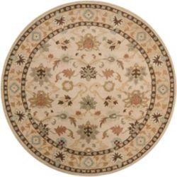 Artistic Weavers Carpette d'intérieur, 4 pi x 4 pi, style transitionnel, ronde, havane Brea