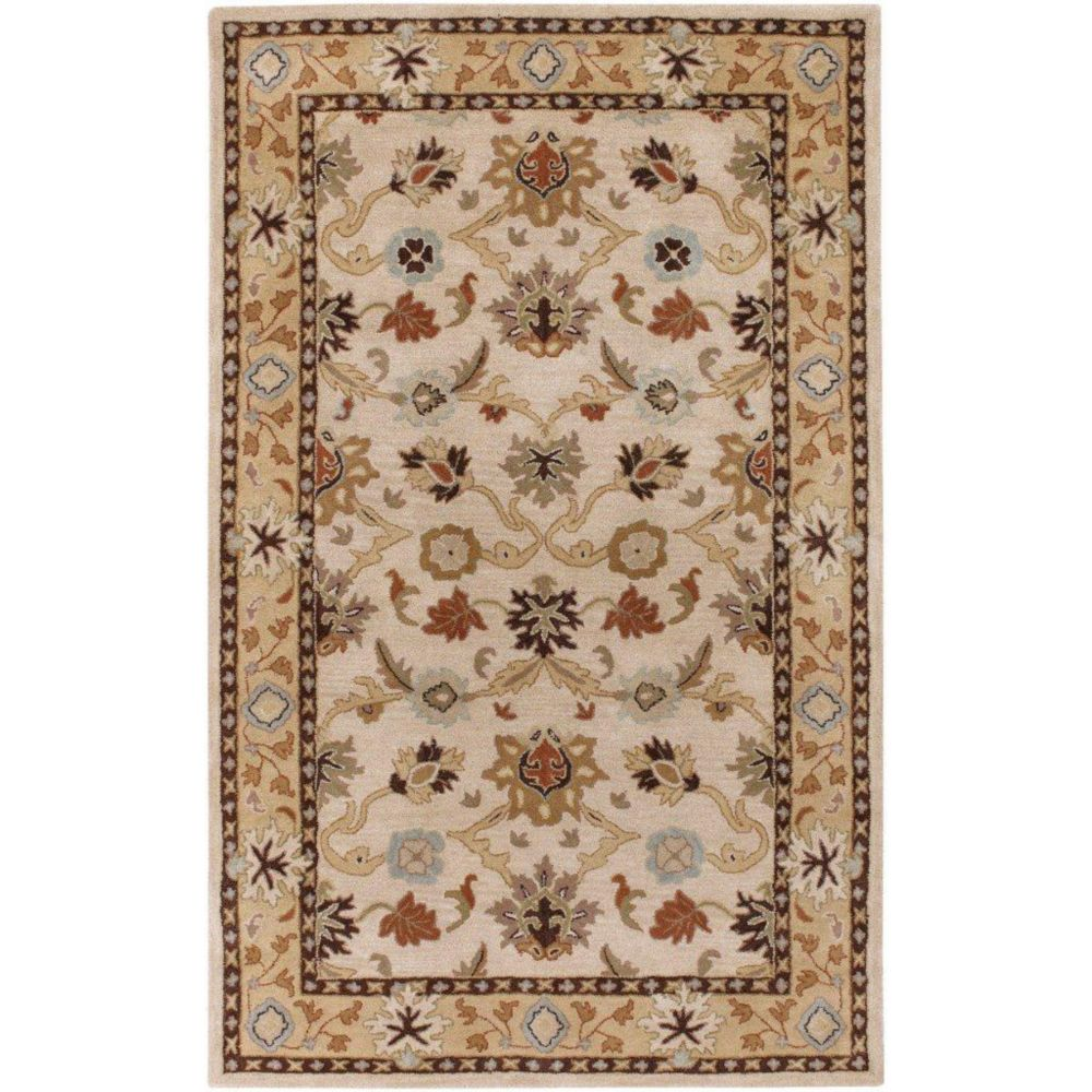 Brea Beige Wool  - 5 Ft. x 8 Ft. Area Rug