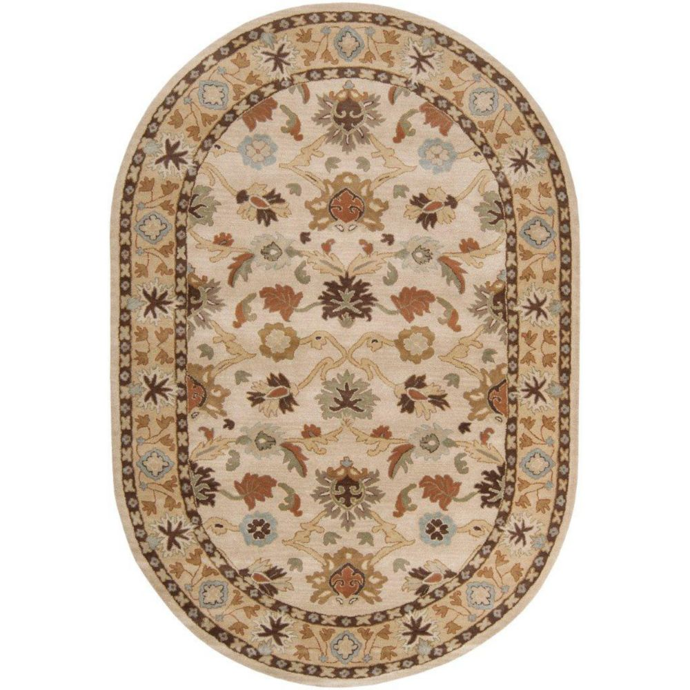 Brea Beige Wool Oval - 8 Ft. x 10 Ft. Area Rug Brea-810OV in Canada