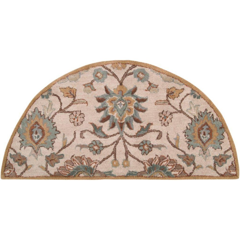 Brentwood Beige Wool Hearth Accent Rug - 2 Ft. x 4 Ft. Area Rug