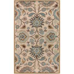Artistic Weavers Carpette d'intérieur, 7 pi 6 po x 9 pi 6 po, style transitionnel, rectangulaire, havane Brentwood