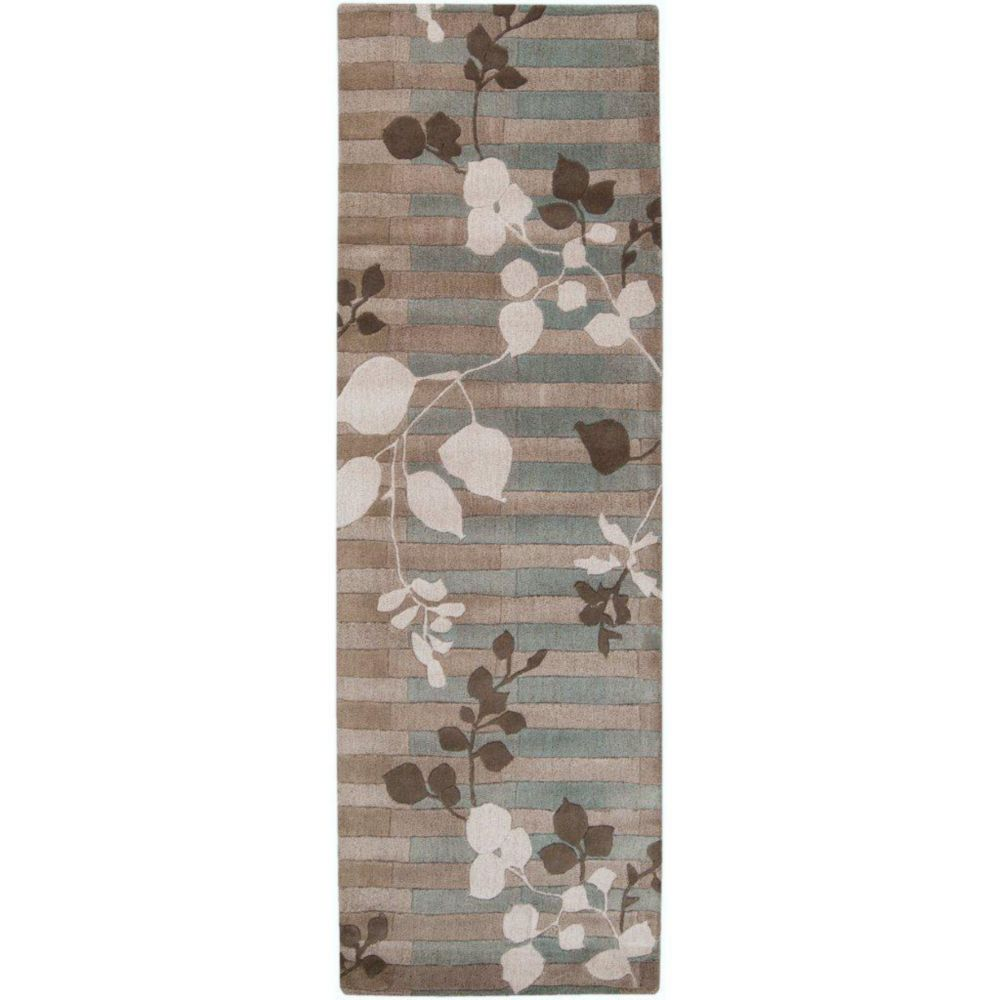 Nelson Gray New Zealand Wool Runner - 2 Ft. 6 In. x 8 Ft. Area Rug