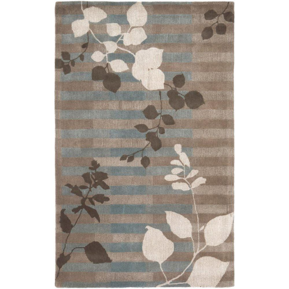 Nelson Gray New Zealand Wool  - 3 Ft. 3 In. x 5 Ft. 3 In. Area Rug