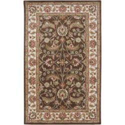 Artistic Weavers Belvedere Brown 4 ft. x 6 ft. Indoor Traditional Rectangular Area Rug