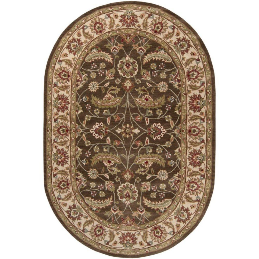 Belvedere Forest Wool  Oval - 6 Ft. x 9 Ft. Area Rug