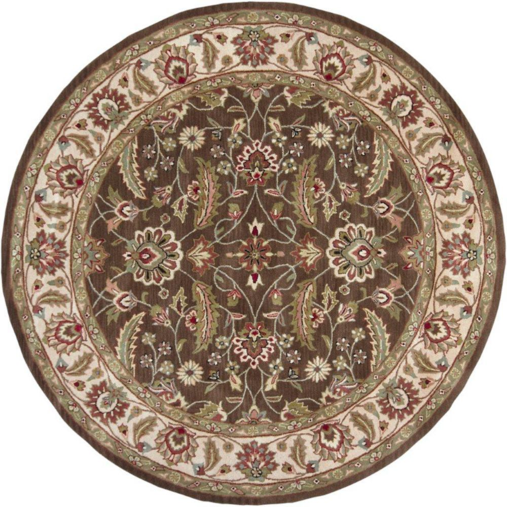 Belvedere Forest Wool Round  - 9 Ft. 9 In. Area Rug