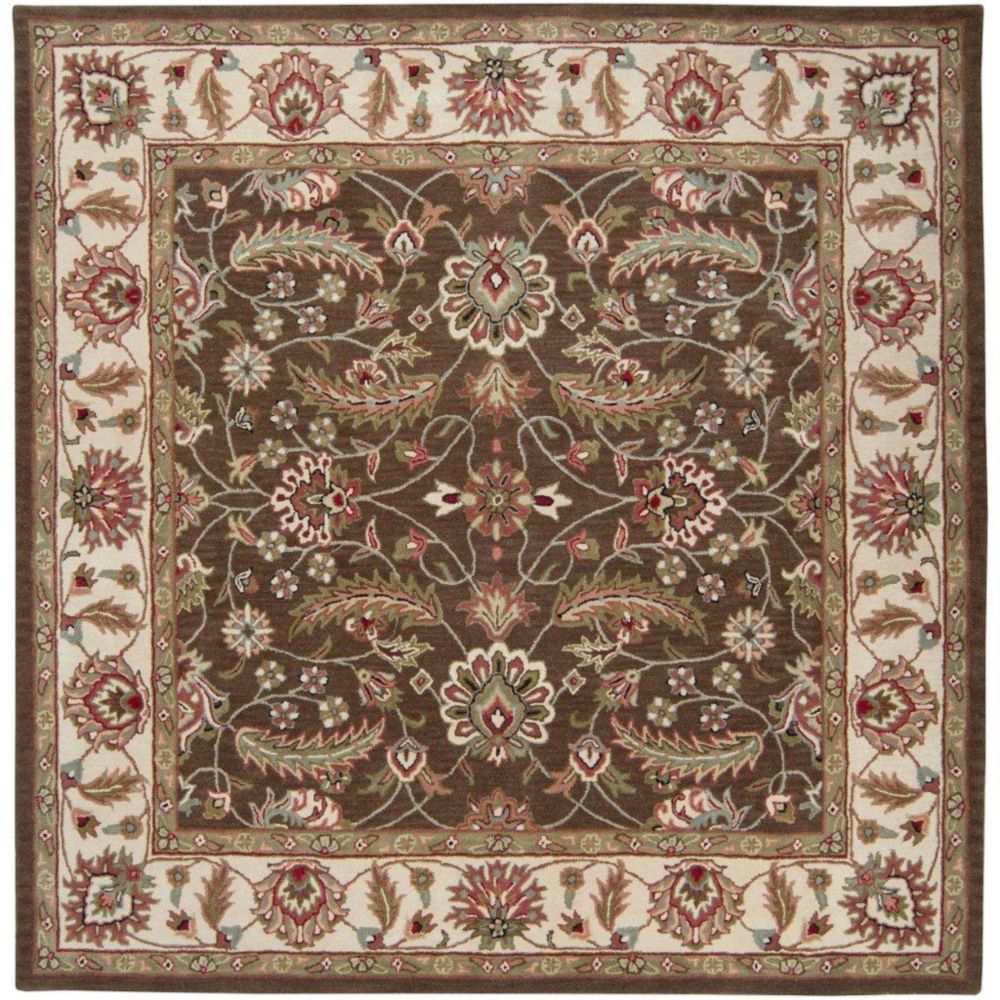 Belvedere Forest Wool Square  - 9 Ft. 9 In. Area Rug