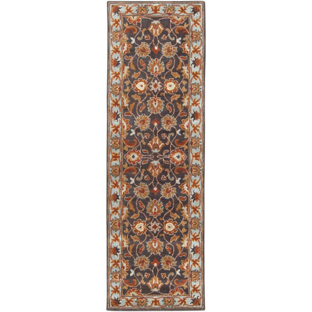 Benicia Charcoal Wool Runner - 2 Ft. 6 In. x 8 Ft. Area Rug