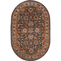 Artistic Weavers Benicia Grey 8 ft. x 10 ft. Indoor Transitional Oval Area Rug